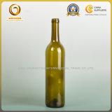 Оптовая 750ml темнота - зеленые бутылки вина верхней части пробочки (028)