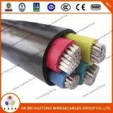 Câble d'alimentation isolé par XLPE en aluminium de conducteur