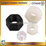 Écrou en plastique de l'écrou de BPC fixations en plastique de l'ÉCROU HEXAGONAL NYLON