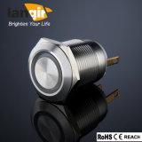 L19 Drukknop van de van de Hoofd ring Schakelaar van de Vandaal de Bestand die L19 (19mm) van Roestvrij staal wordt gemaakt
