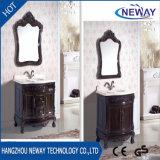 Античные шкафы раковины ванной комнаты твердой древесины конструкции
