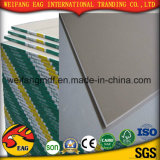 Forro de gesso de PVC de cor branca/Placa de ladrilhos com folha de alumínio de volta