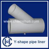 Doublure de pipe de Y-Forme de Chemshun utilisée en fer et acier Manufactueres