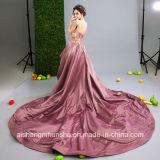 Платье выпускного вечера партии вечера цветка женщин без бретелек безрукавный отбортовывая длиннее
