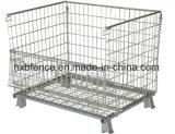 Almacén de metal plegable apilable de carga de la jaula de almacenamiento