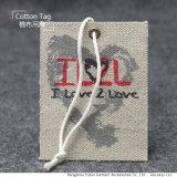 Galpão de Lona Veste Impresso Hang Tag string com