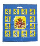 De douane Afgedrukte Plastic Zakken van de Carrier van het Gat van de Zak voor Kleding (fld-8562)