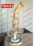 Conduites d'eau de fumage en verre courbé d'embouchure pour la conduite d'eau en verre de 600g 12inch