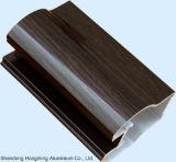 Extrusão de materiais de construção Perfil de alumínio em grão de madeira