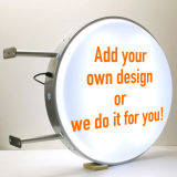 Im Freienbekanntmachenzeichen-kundenspezifisches Acryl LED rundes Lightbox