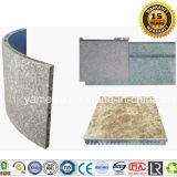 панели сота 15mm каменным изогнутые цветом алюминиевые