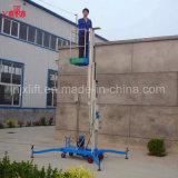 Plataforma de elevación del hombre hidráulico vertical móvil, elevación hidráulica del hombre, elevación de aluminio