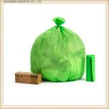 Sac compostable biodégradable en gros sur le roulis