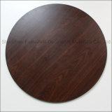 Большой цвет таблицы ламината компакта текстуры размера 120cm круглый верхний серый