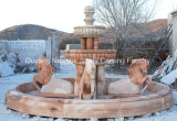 ホーム装飾のための石造りの切り分ける彫刻水機能庭の噴水