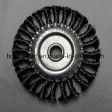 """6 """" X 5/8 """" - brosse métallique de roue de noeud de 11 pivots (acier du carbone)"""