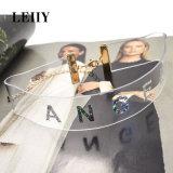 Halsbanden van de Nauwsluitende halsketting van pvc de Plastic voor Vrouwen met Zilveren Collier Femme van de Brief van de Engel van de Kleur Eenvoudige Korte