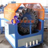 Línea de extrusión de la manguera reforzada de la fibra del PVC / línea de producción de la extrusora para la manguera de la presión