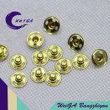 Botão de Fixação de Metal de Alta Qualidade Cor de Ouro