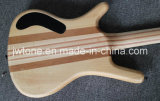 Шея w Inlay Abalone блока через гитару тела басовую
