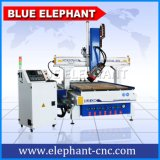 Ele 1330 máquina aborrecida de madeira do CNC de 4 linhas centrais, máquina do router do CNC de 4 machados para a fatura de madeira da mobília