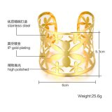 Form-goldenes 5.3cm hohles Blumen-Mund-Armband