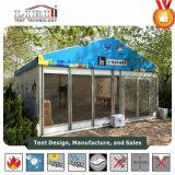 10mx15mの明確な屋根の玄関ひさしのテント