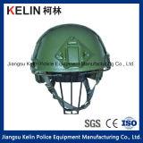 Casco a prova di proiettile veloce con il livello Iiia di colore verde per i militari