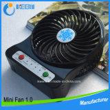 Ventilador de função de refrigeração elegante com bateria de lítio e luz LED