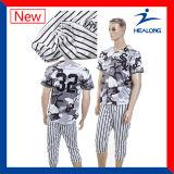 Healong一義的なデザインスポーツ・ウェアのデジタル印刷の男子野球ジャージー