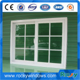 Doppia finestra di scivolamento di alluminio di vetro, griglie all'interno di doppia finestra di alluminio di vetro