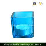 квадратный стеклянный кубик вазы 22oz для опарника свечки