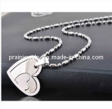 La moda de acero inoxidable en forma de Corazón Collar Colgante de joyería de moda de primavera de 2013 Bisutería Diamond Necklace Collar de moda Accesorios (Pip-012)