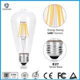 포도 수확 Edison LED 전구 St64 A60 C35 G80 T45 2W 4W 6W 8W 나선형 유연한 LED 필라멘트 장식적인 전구 E27 나사 기초 온난한 백색 2200K 점화 램프 전구
