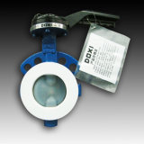Operated pneumático PFA Lined Butterfly Valve para Chemical Solution