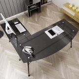 Стол домашней мебели стеклянный угловойой с L-Shaped для пользы компьютера