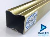 Алюминиевый профиль для защитного стекла двери из анодированного алюминия с золотой Gold