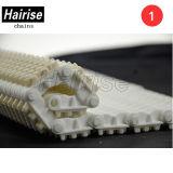 Antideslizante patentado de plástico Moduladr Cinta transportadora con cojín de goma