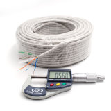 Kabel-twisted pair des Netz-Kabel-CAT6 UTP mit Abfluss-Draht 100m Belüftung-Grau