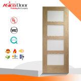 Porta branca de madeira branca interna do abanador do MDF Composited do carvalho de Asico