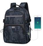 Laptop-Rucksack, mit USB-aufladendem wasserdichtem Hochschulschule-Computer-Portbeutel, Arbeitsweg-Rucksack für Männer