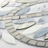 Árbol en forma de teja mixta de cristal gris Mosaico Mosaico Crytal