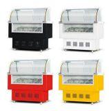 Congelador do indicador do gelado do refrigerador comercial mini