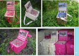 2 Persona pequeña cesta de mimbre picnic y el Vino (HD-H081)