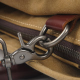 Mode wuchs Segeltuch-Computer-Handtaschen-Leder-Griff-Brücke-wasserdichten Laptop-Beutel ein (RS-8571A)