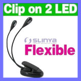 2 col flexible 4 lampe LED Booklight Clip de lecture