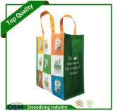 O logotipo personalizado promoção impresso Dobrável e Bolsa de Não Tecidos laminado reutilizáveis