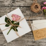 Коробки белого Coated подарка бумаги искусствоа упаковывая (WPB884)
