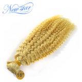 Выдвижения блондинкы человеческих волос Remy скручиваемости верхнего качества Kinky