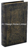 Antigüedades populares relieve Vintage de cuero de PU/almacenamiento de madera MDF cuadro Libro